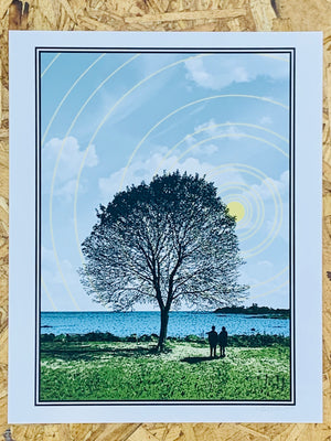 Tree and Couple 8-10in Giclee Print by Kris Johnsen