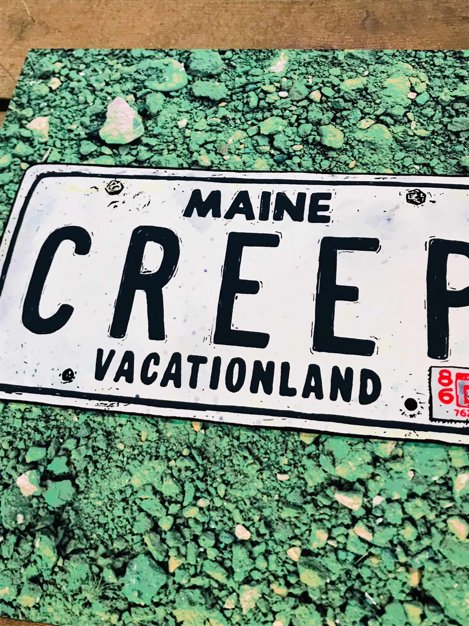 Maine CREEP 8-8in Giclee Print