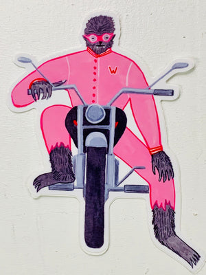 Werewolf Biker Sticker