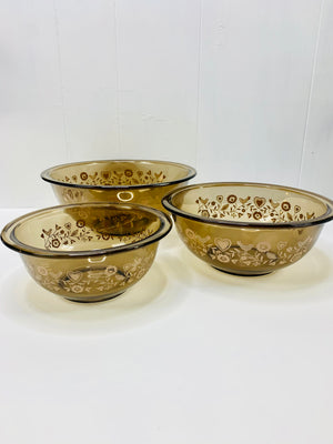 Glass Pyrex Nesting Bowl Set