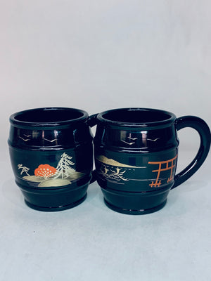 Plastic Asian Mugs set of 2