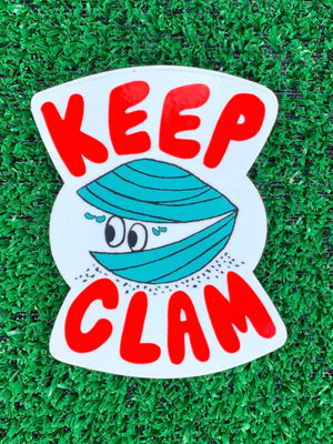 Keep Clam Sticker