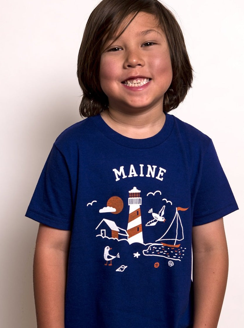 Kids Maine Lighthouse Tee