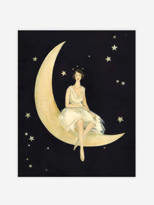 Imaginaries Moon Lady Print