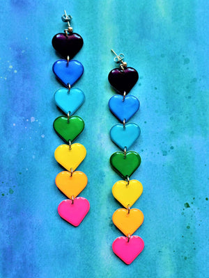 Neon Rainbow Duster Earrings