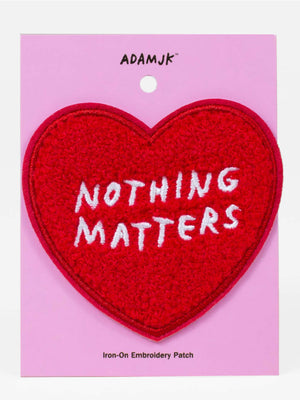 Nothing Matters Heart Patch