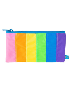 Rainbow Stripe Pencil Zip Pouch