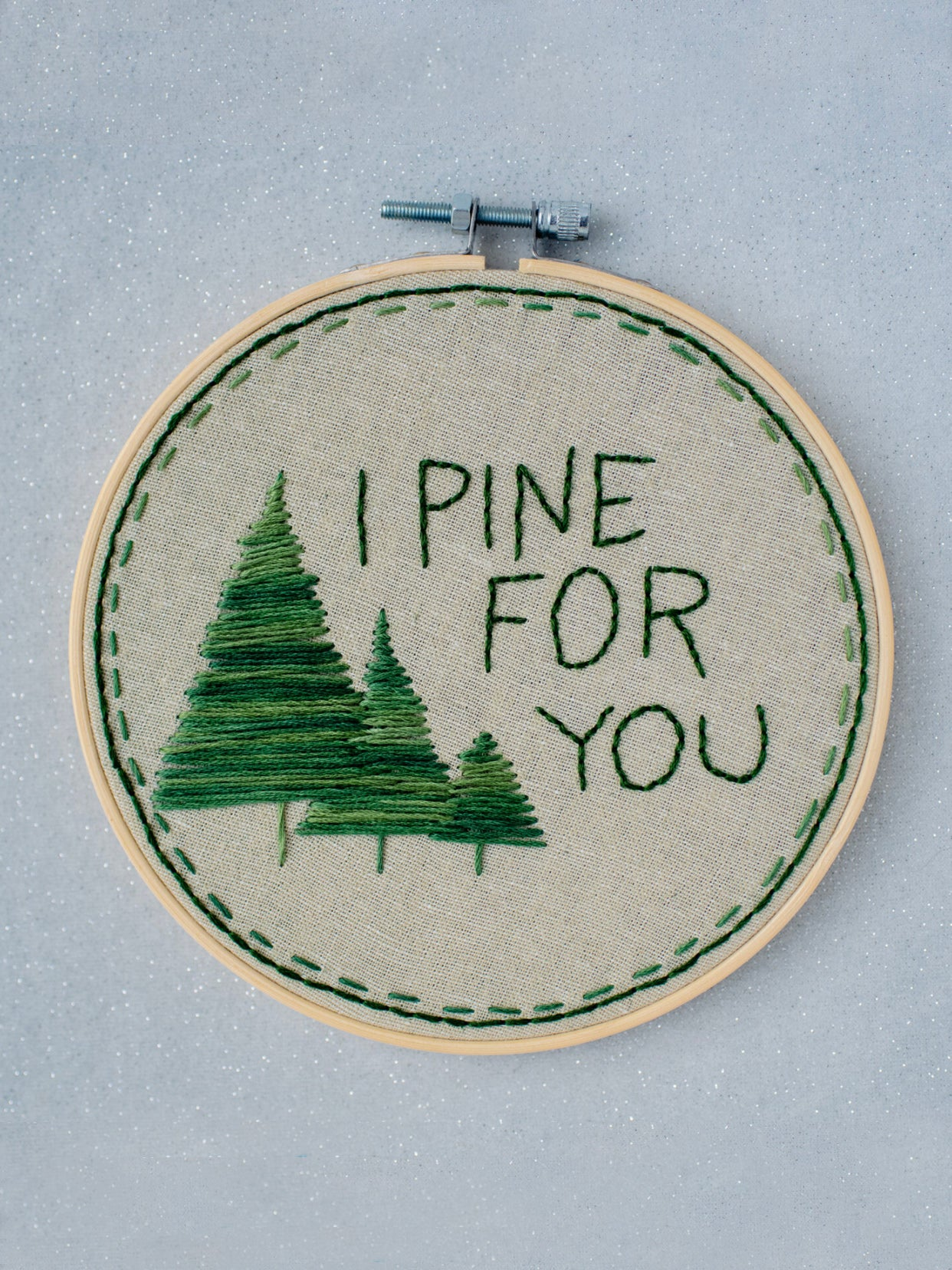I Pine For You Embroidery Kit
