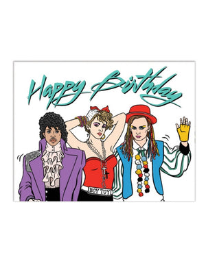 Pop 80's Birthday Card