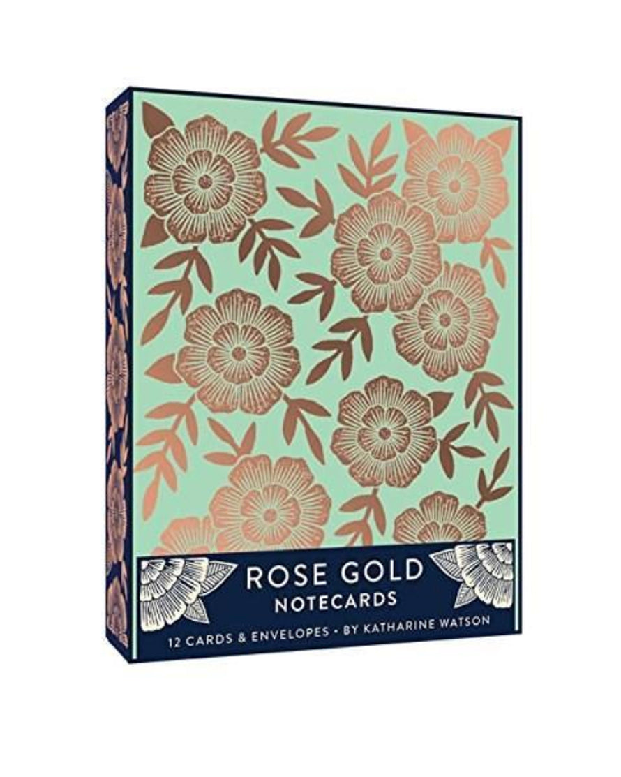 Rose Gold Notecard Box Set