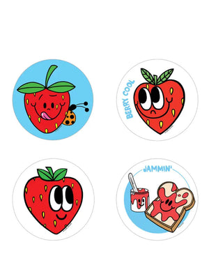Strawberry Scratch and Sniff Sticker Set