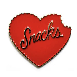 Snacks Enamel Pin