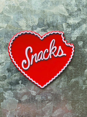 Snacks Heart Magnet
