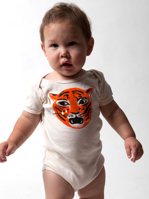 Organic Crying Tiger Baby One Piece