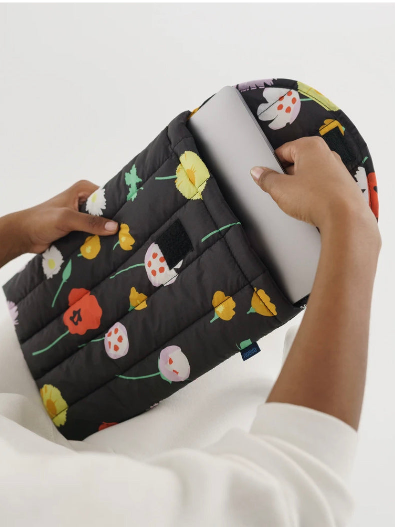 Wildflowers Puffy Laptop Sleeve