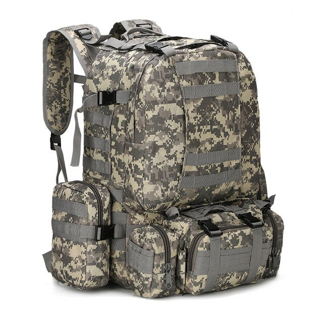 New Utility Outdoor Combination Backpack Camo Tactical Knapsack Military Back Pack Hiking Camping Climbing Cycling Shoulder Bag