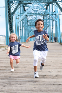Walnut Street Bridge kids outdoors Chattanooga T-shirt fun gift souvenir