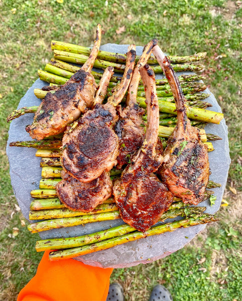 Garlic and Rosemary Marinated Lamb Chops