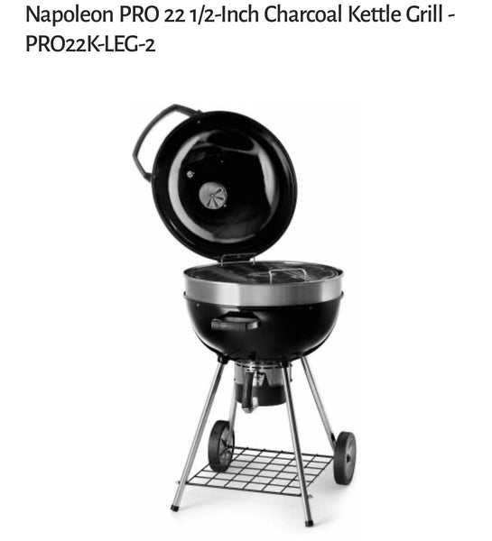 Napoleon PRO 22 1/2-Inch Charcoal Kettle Grill - PRO22K-LEG-2