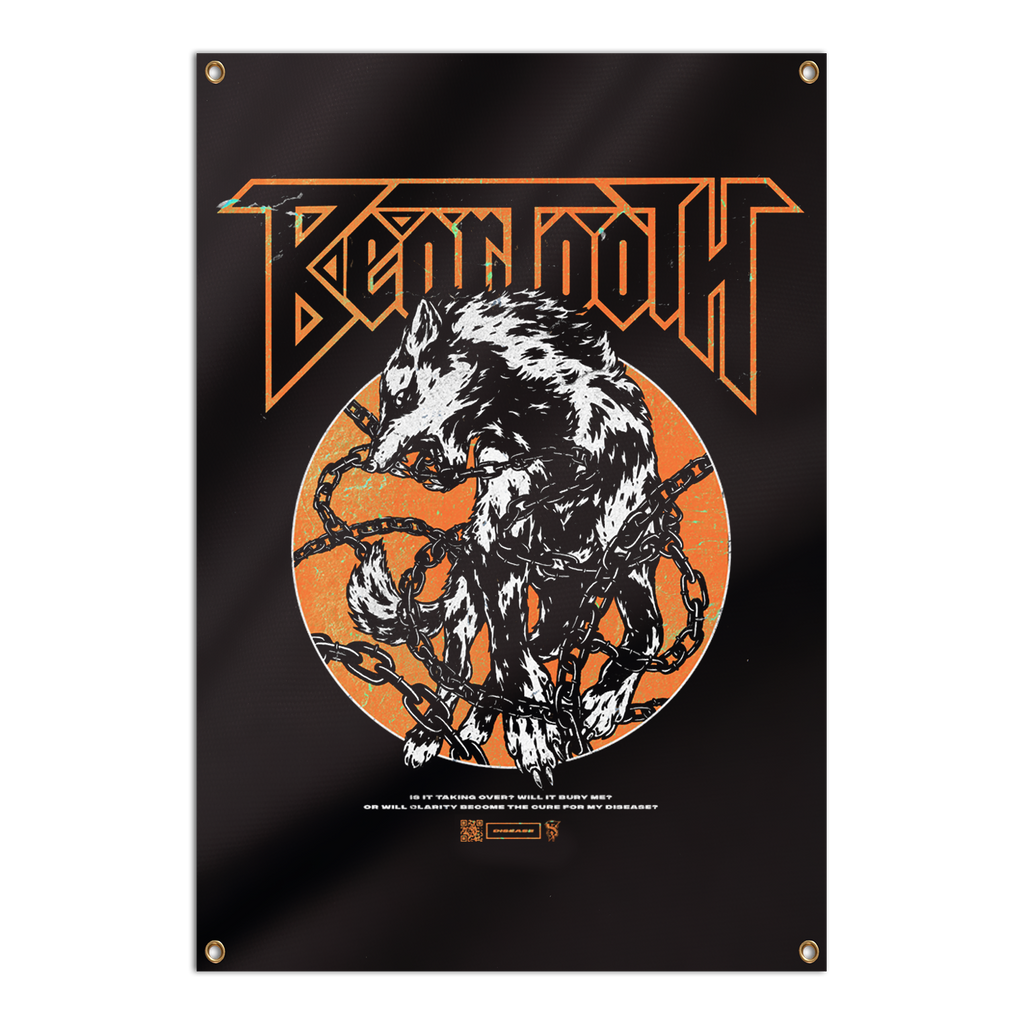 Beartooth - Chained Wolf Wall Flag