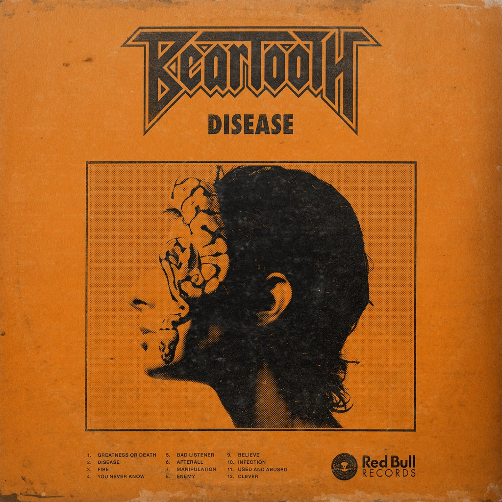 Beartooth - Disease 12 Inch Vinyl White/Black/Grey