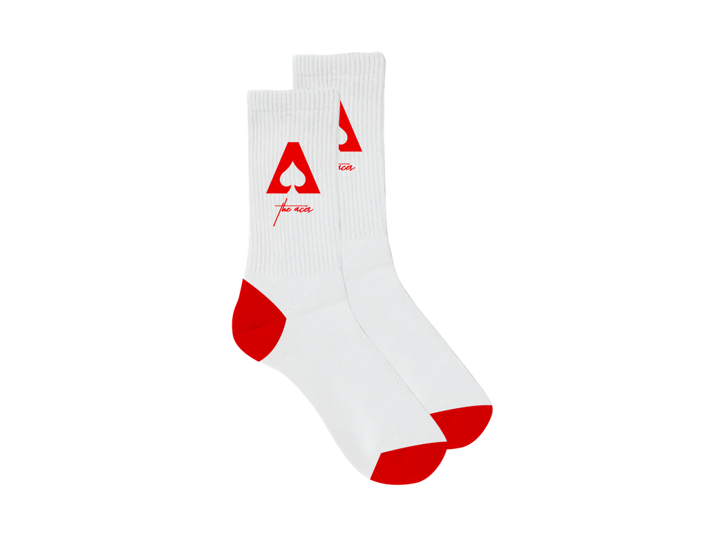 The Aces - Logo White/Red Socks