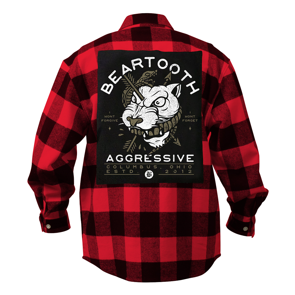 Red Wolf Flannel Shirt