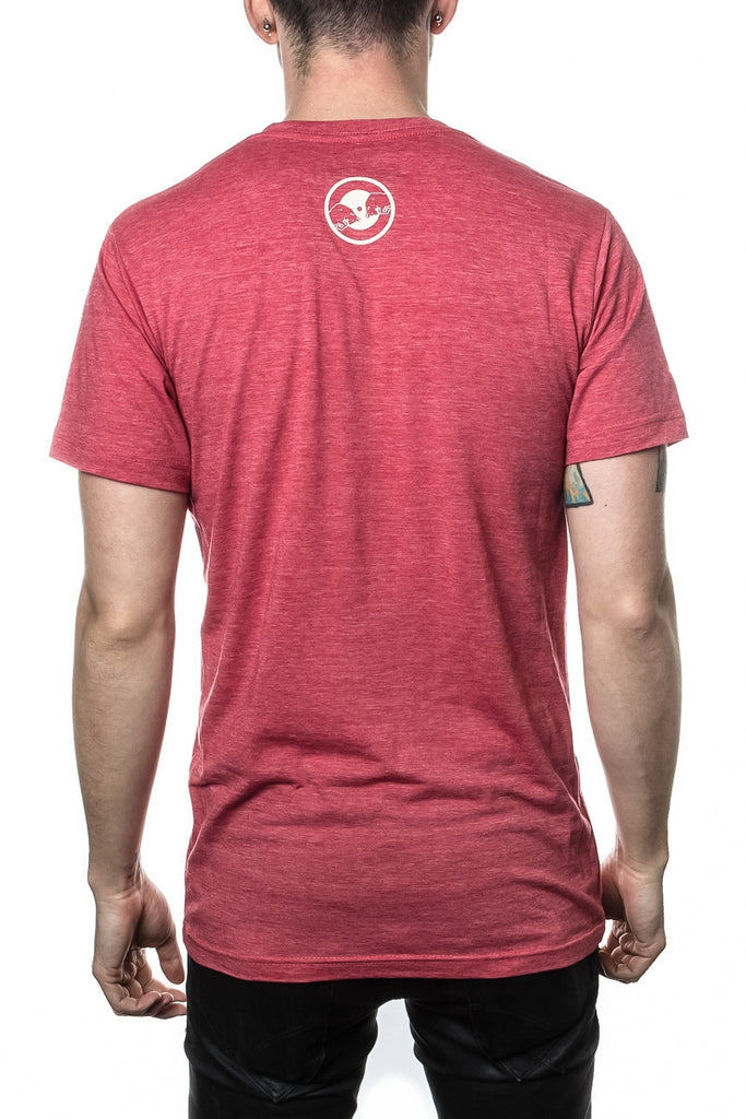 Machine Seal T-Shirt (Red Heather)