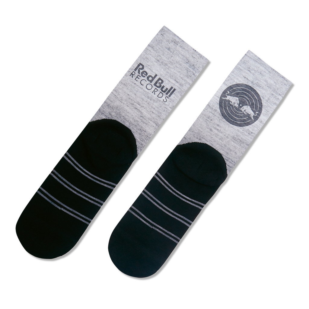 Red Bull Records - Gray/Black Socks