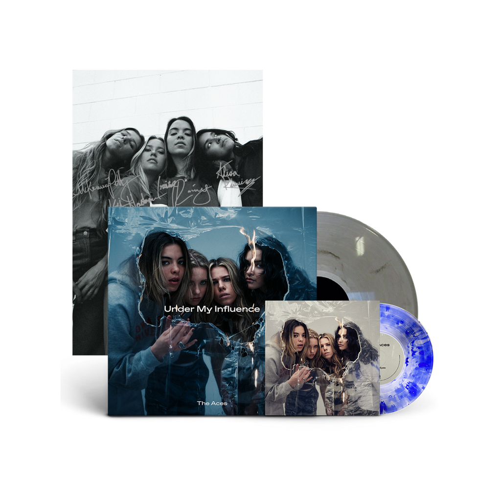"The Aces - ""Under My Influence"" 12 Inch LP/""Sleepy Eyes/Aren't You"" Limited Edition 7""/Signed Poster Bundle"