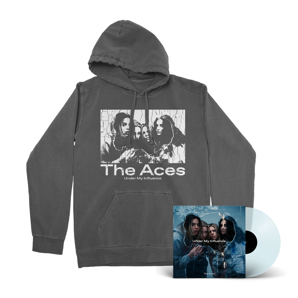 The Aces - Under My Influence Coke Bottle Clear 12 Inch LP/Hoodie Bundle