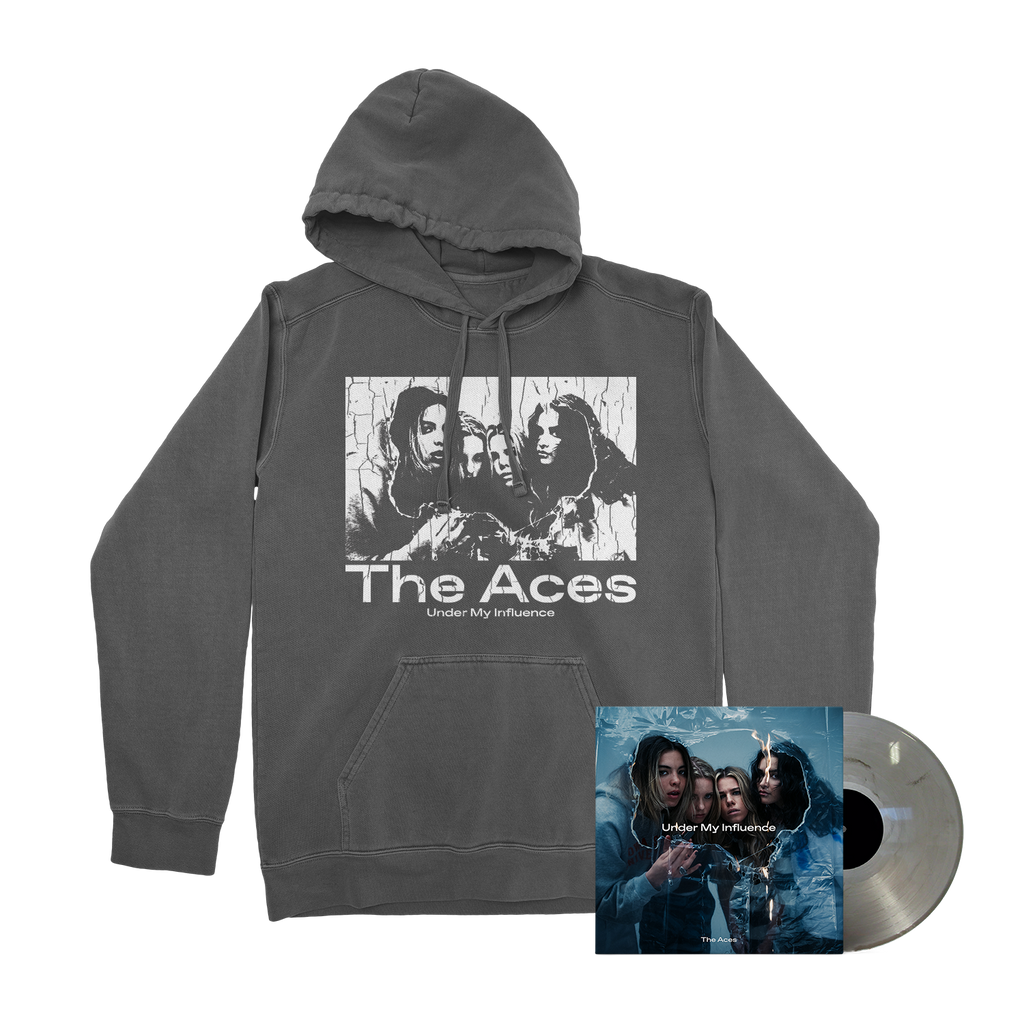 The Aces - Under My Influence Smokey Marble LP/Hoodie Bundle