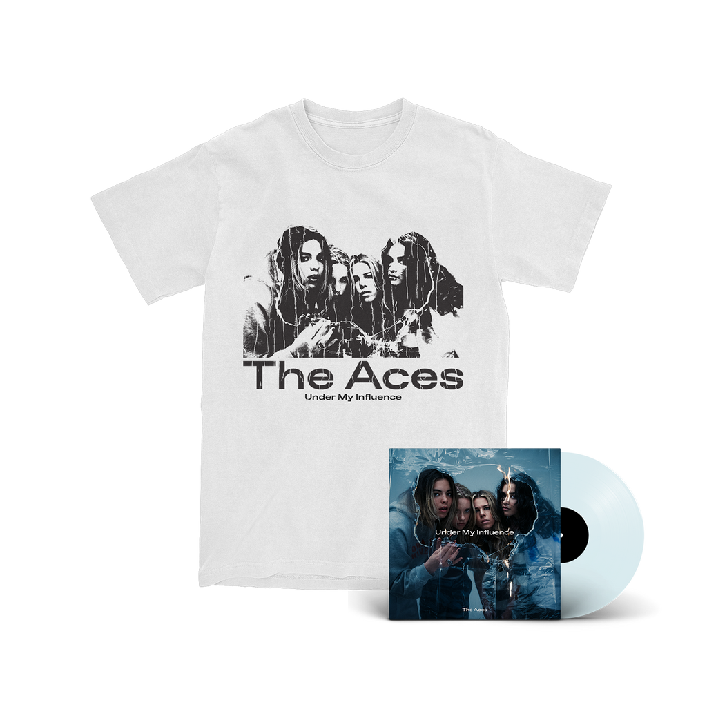 The Aces - Under My Influence Coke Bottle Clear LP/T-Shirt Bundle