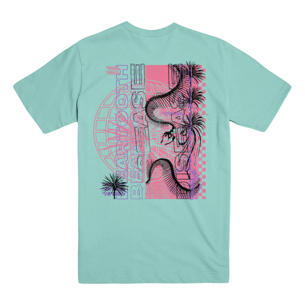Beartooth - Snake Skeleton T-Shirt (Aqua)