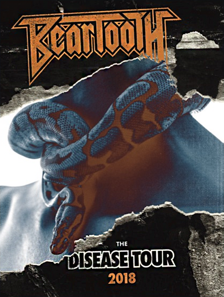 Beartooth - Disease Tour Snake 18x24 Inch Poster