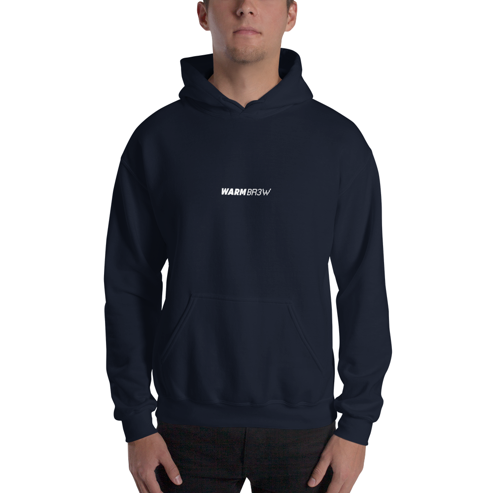 Warm Brew - Logo Navy Hooded Sweatshirt