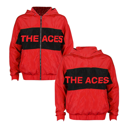 The Aces - Red Logo Windbreaker