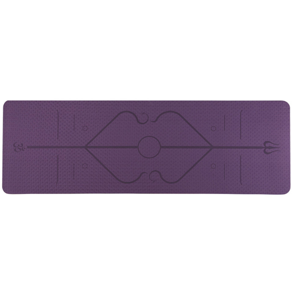 Yoga Fitness Mat with Alignment Lines