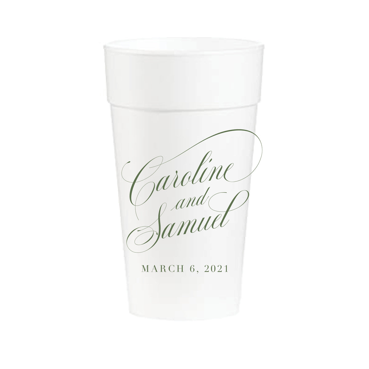 Wedding Names | Styrofoam Cups