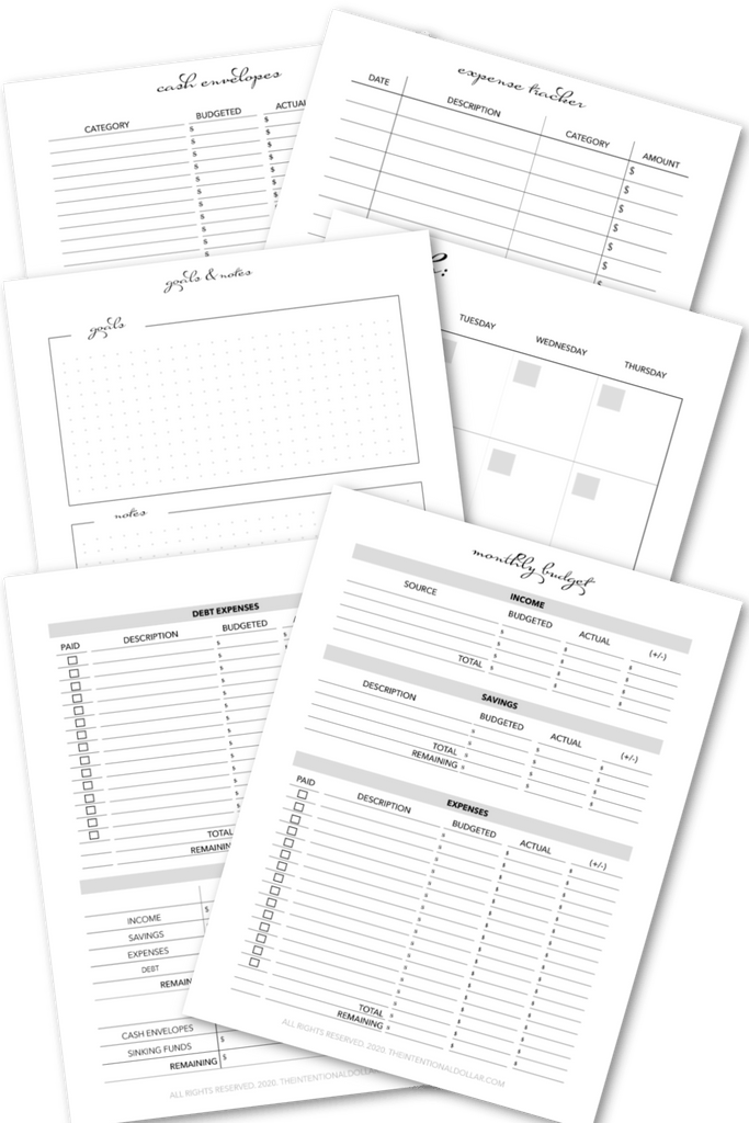 Budget Planner (20 pages)