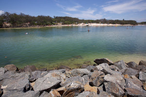 The rivermouth at Kingscliff Beach on the Tweed Coast of NSW