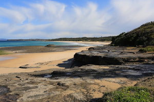 Pastel colours of Racecourse Beach at Ulladulla NSW