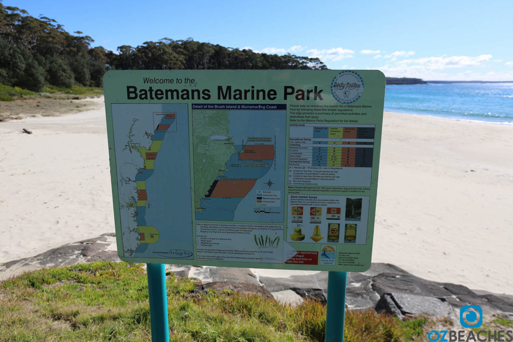 Batemans Marine Park sign - not overly popular with fishermen