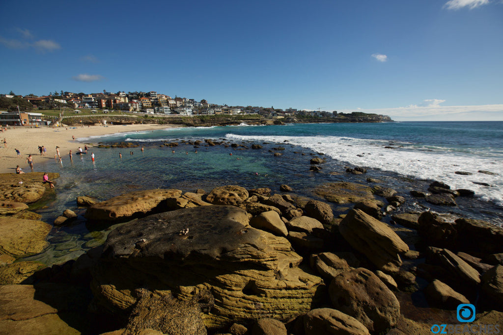 A nice and sunny day at the natural swimming lagoon at Bronte Beach