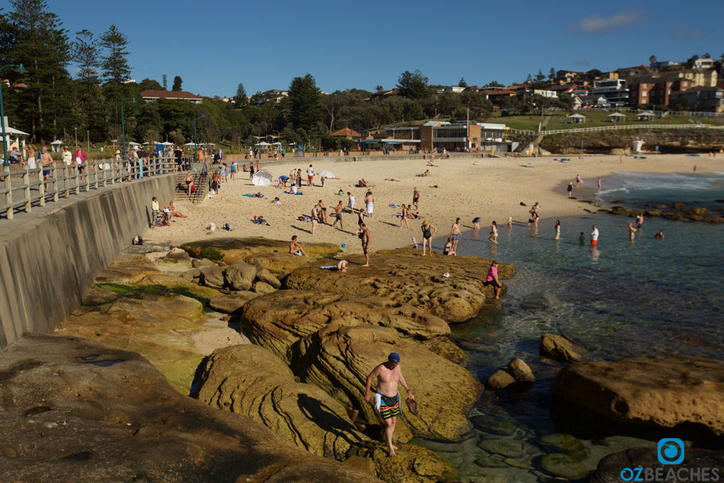 Seawall and walking track at the southern end of Bronte Beach