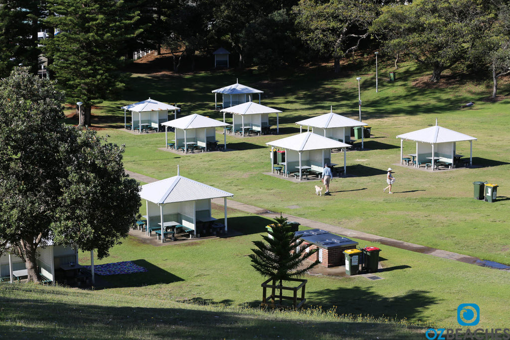 Popular beach pinic pavillions at Bronte Beach NSW
