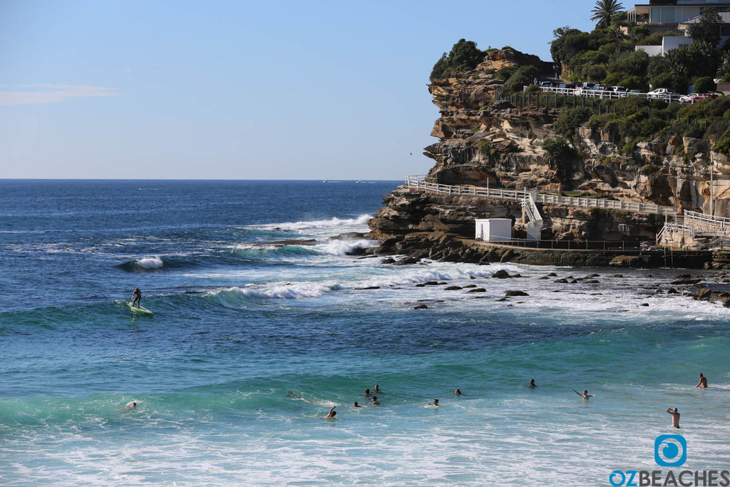 The southern corner of Bronte Beach is protected in southerly winds