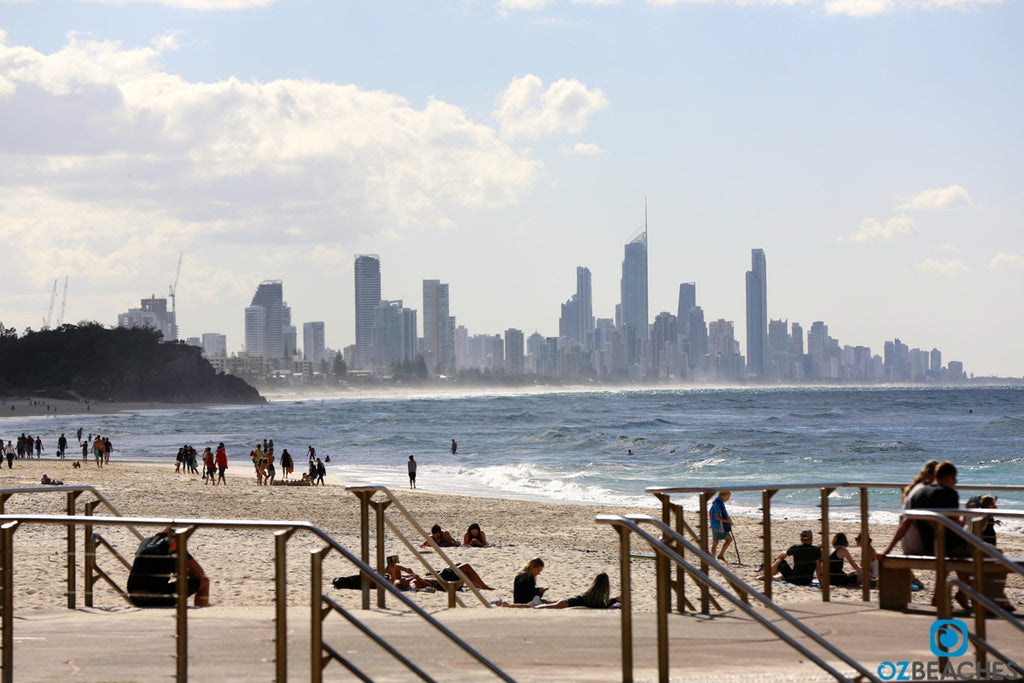 Looking north towards Surfers Paradise and the Gold Coast skyline