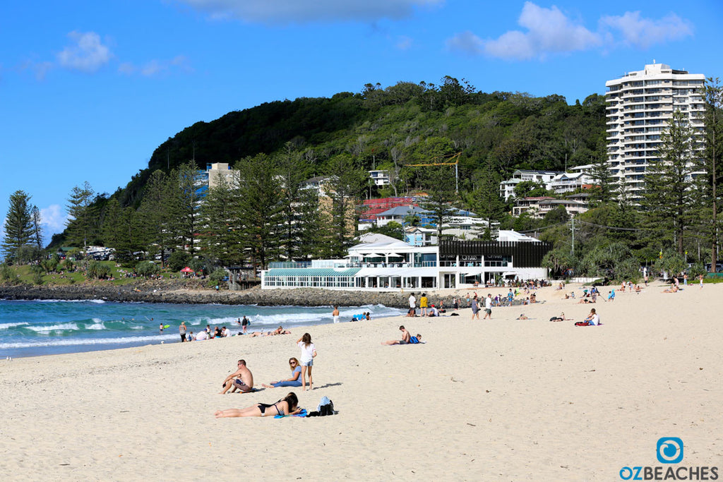Looking south towards Oskars restaurant at Burleigh Head