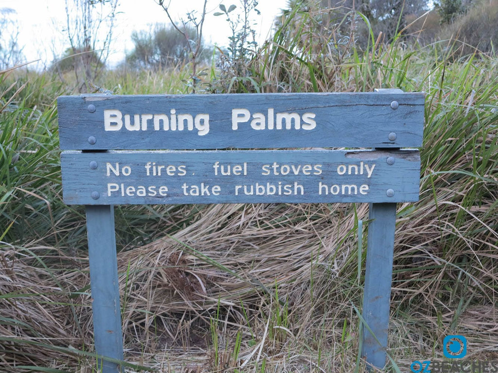 Burning Palms NPWS sign